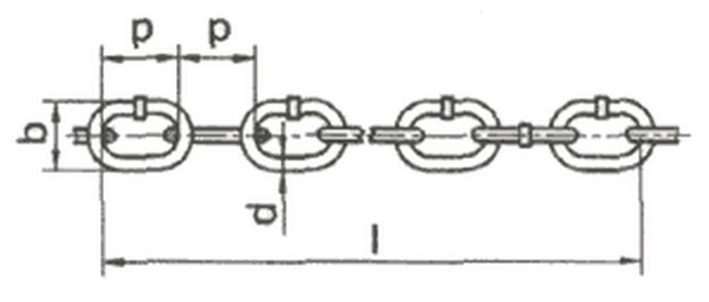 Цепь круглозвенная грузовая и тяговая