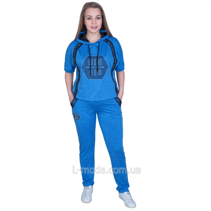 Women's sports knitted suit with N3830 hood