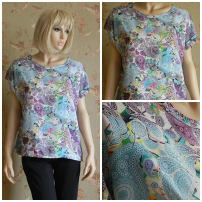 Buy T-shirt N3842, female with a bright prin