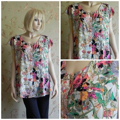 Блуза с растительным узором, арт. N4245
