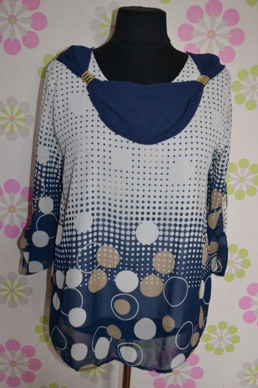 Блуза в горошек крупный и мелкий, арт. C_1702