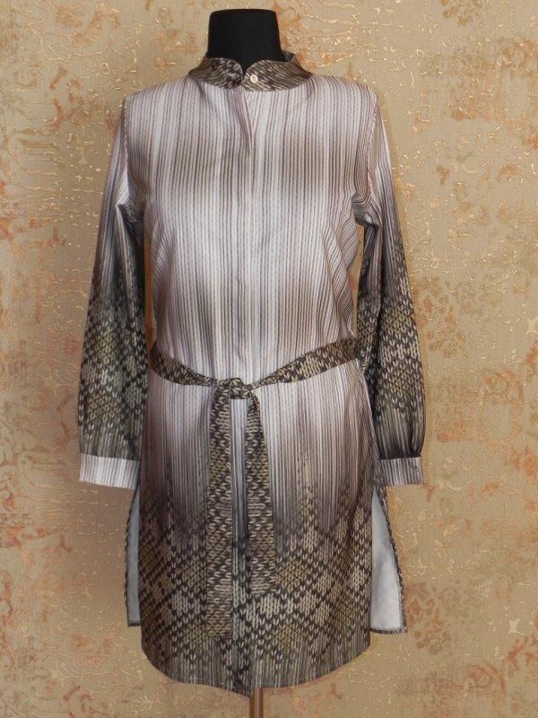 Туника-платье с пояском, арт: 5410