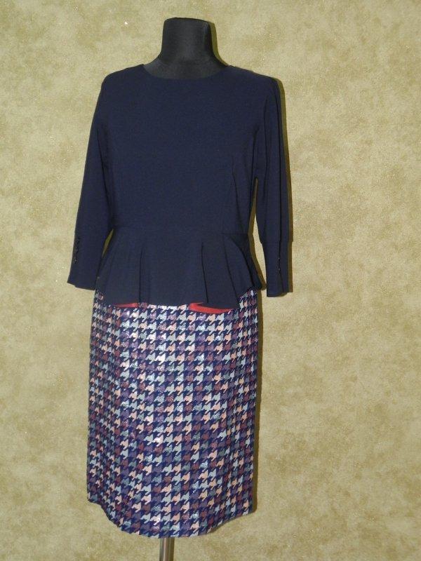 Платье трикотажное с костюмной ткани, арт. 5750