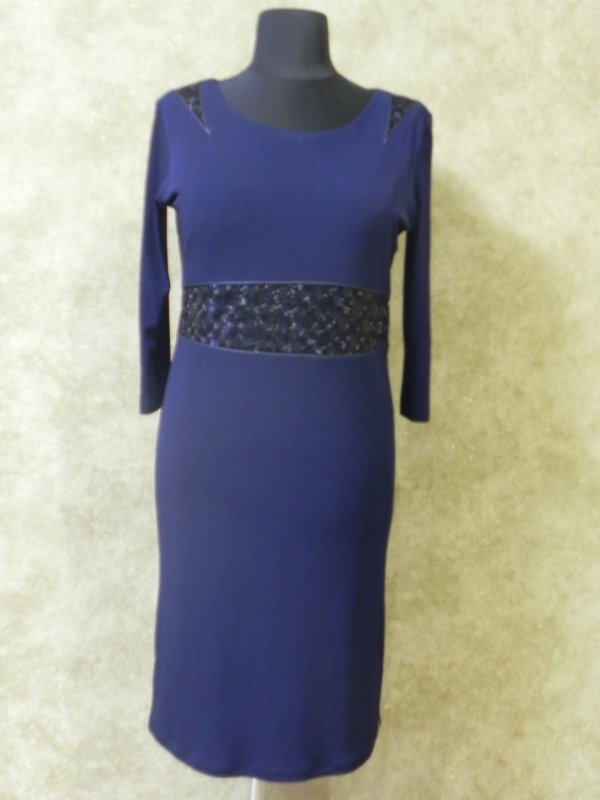 Платье синее трикотаж-масло, арт. 768