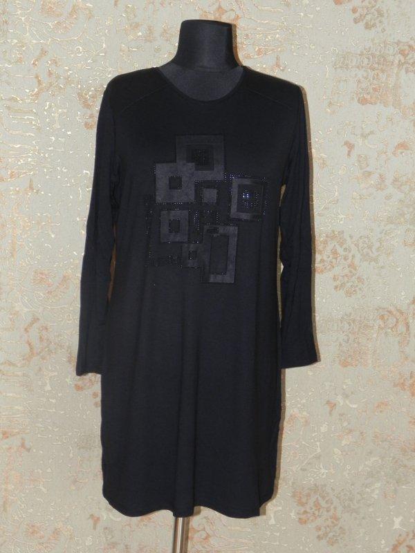 Туника женская черная, арт. 5687