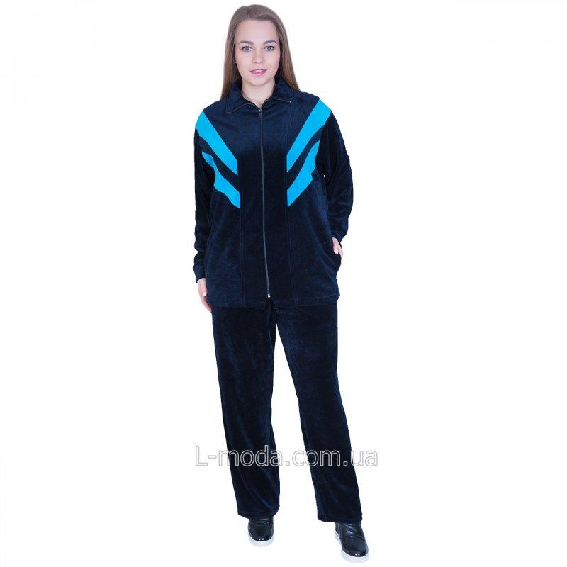 Костюм женский велюровый с удлиненной курткой, арт. 253985