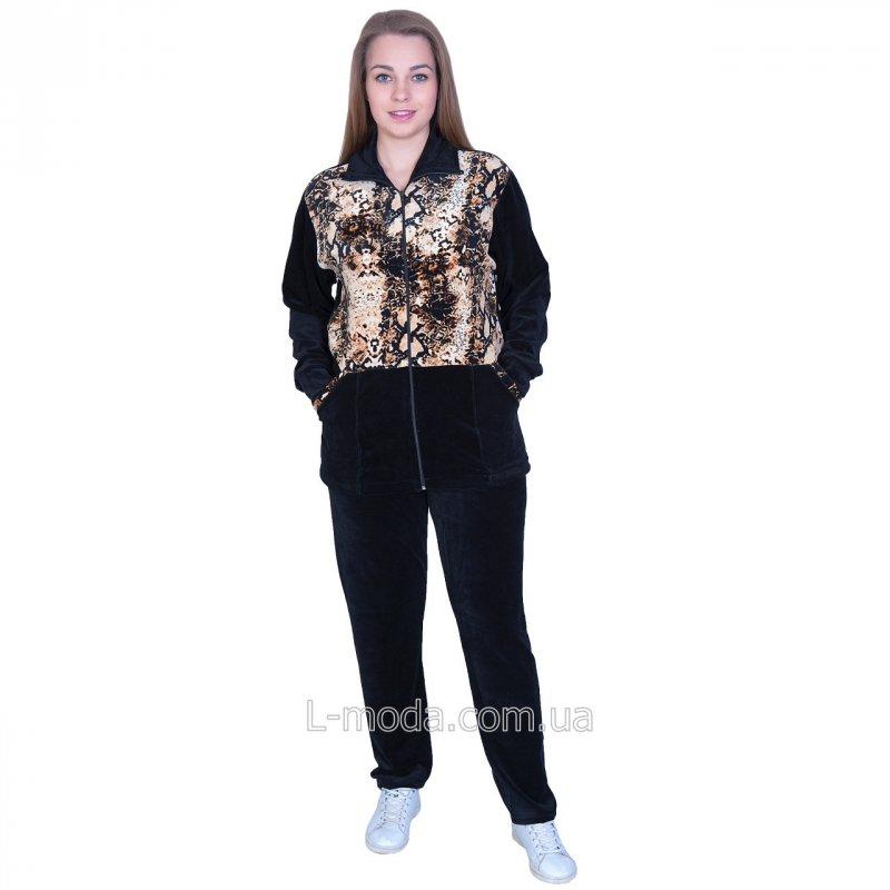 Костюм женский велюровый с удлиненной курткой, арт. 5371