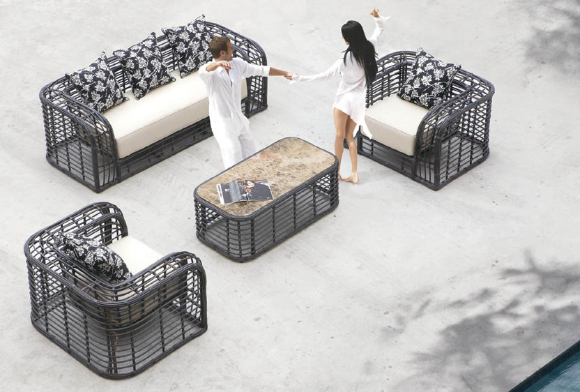 Мебель для улицы из ротанга