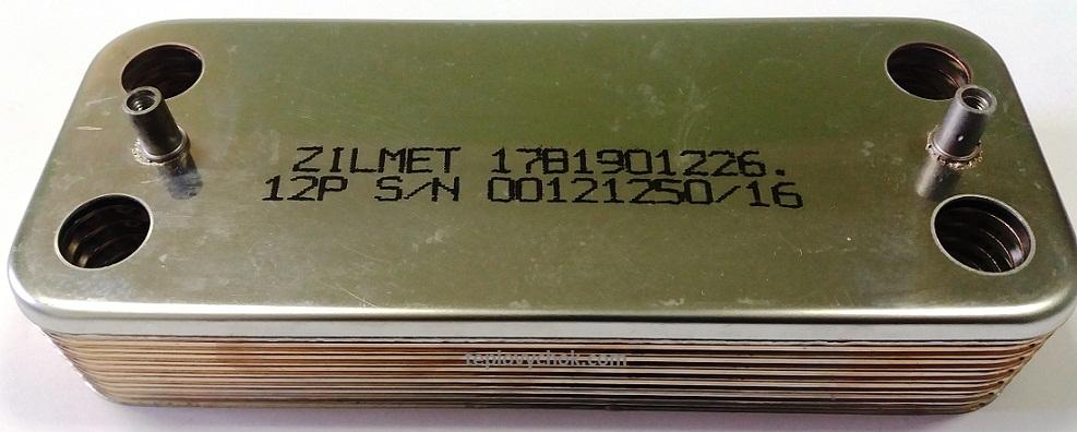 Купить Теплообменник пластинчатый Ariston UNO 12пл. Zilmet 995945