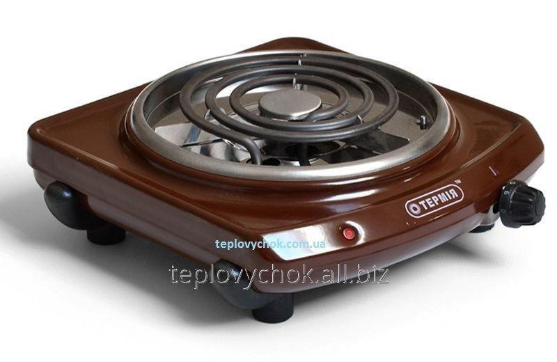 Плита электрическая настольная ТЕРМІЯ ЕПТ 1-1,0/220с коричневая