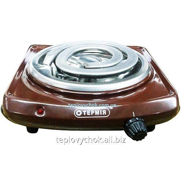 Плита электрическая настольная Термия ЭПТ 1-1,0/220 (Ш) коричневая