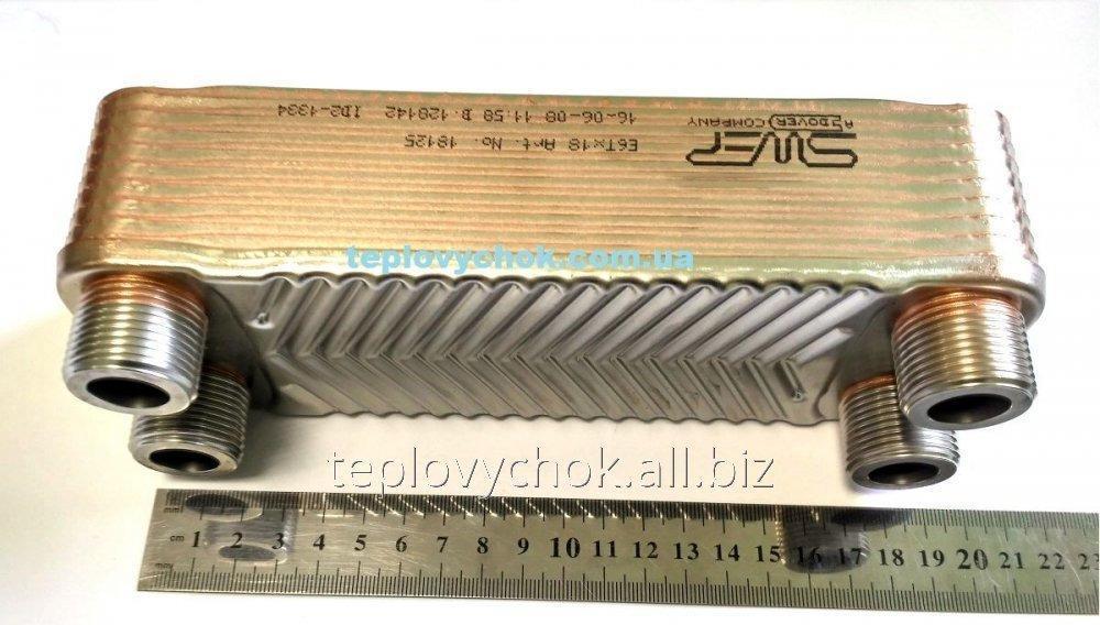 "Теплообменник пластинчатый 36 кВт резьба 3/4"" SWEP E6TX18"