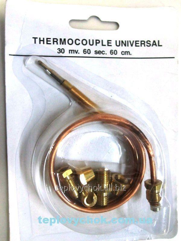 Термопара универсальная для котлов, конвекторов, газовых плит L = 600