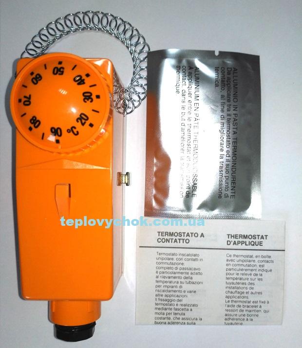 Термостат натрубный для систем отопления 10-90гр.