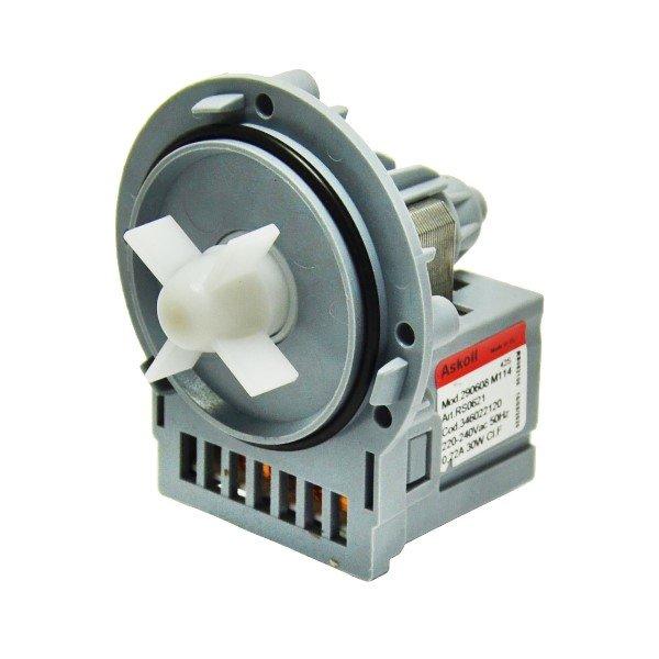 Универсальный насос Askoll M114 для стиральных машин на три самонареза,клемы сзади раздельно