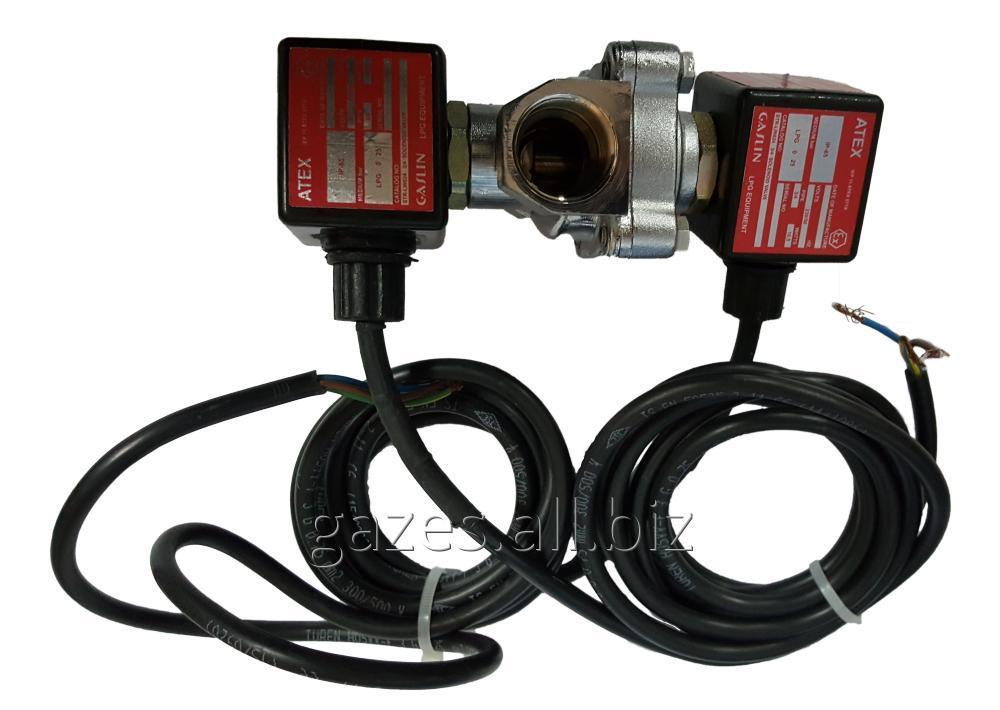 Электромагнитный соленоид клапан двойного действия Gaslin str-lin GSL-629 (624) для ГРК газовых модулей пропан бутана.