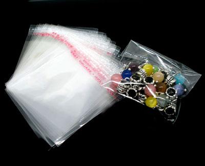 Пакет полипропиленовый с клапаном и скотчем для фурнитуры и бижутерии 5,8*6см