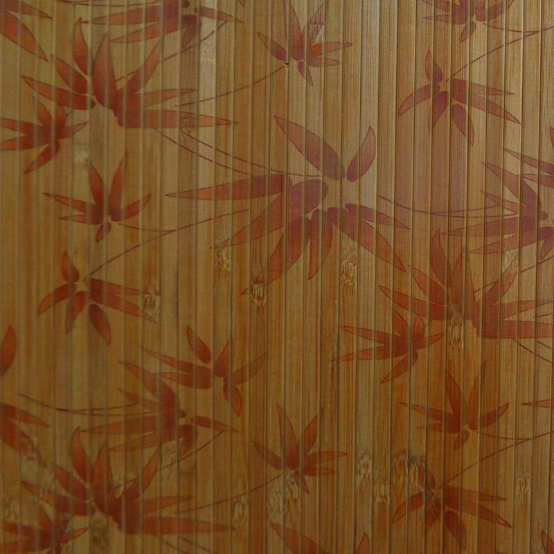 Купить Шпалери з бамбука Кофейний лак Листя бамбука, 8мм
