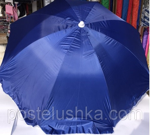 Buy Umbrella for a garden, the beach of round monophonic 2,2 m with a silver dusting 724
