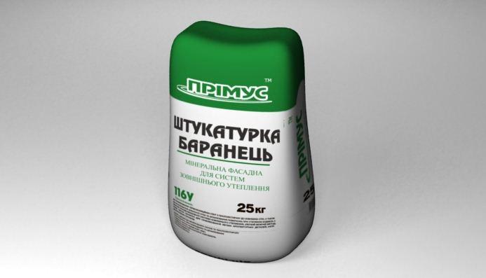 Полимерно-минеральная штукатурка ПРІМУС 106У (кораед) 25кг
