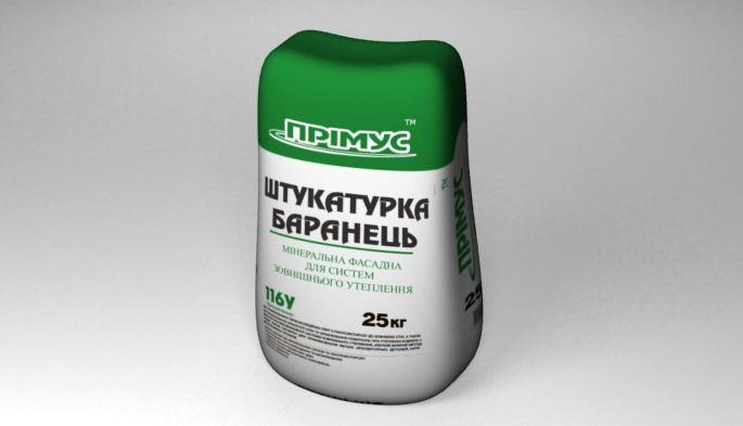 Полимерно-минеральная штукатурка ПРІМУС 116У (шуба) 25кг