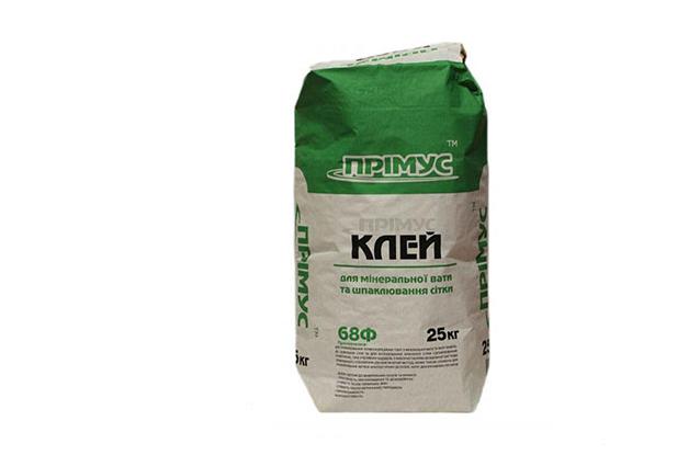 Клей для минеральной ваты и шпаклевания сетки ПРІМУС 68Ф 25кг