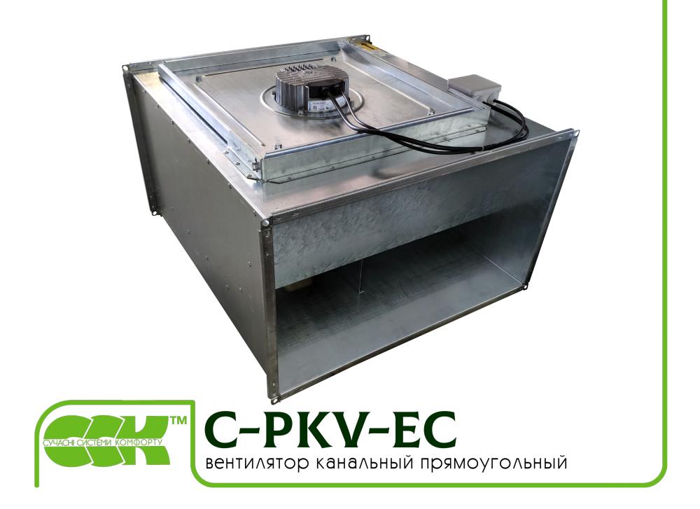 Вентилятор для канальной вентиляции с ЕС-двигателем C-PKV-EC-60-35-2-380