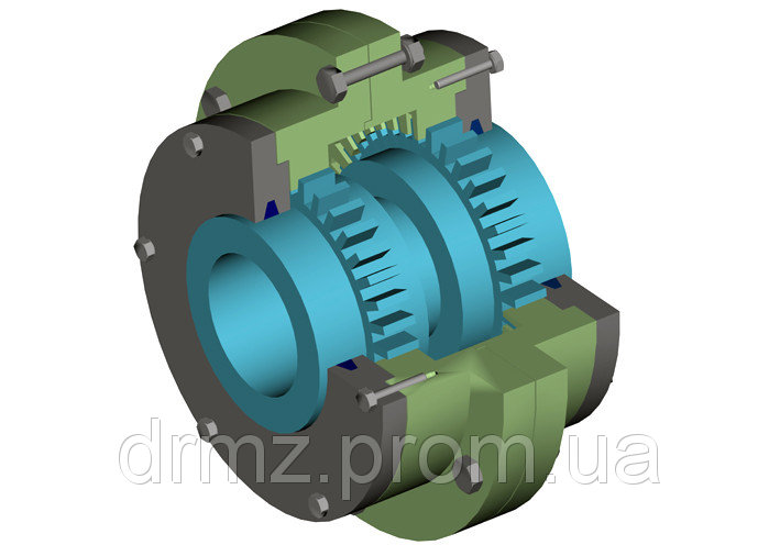 The MZ-12 coupling with barrel-shaped tooth