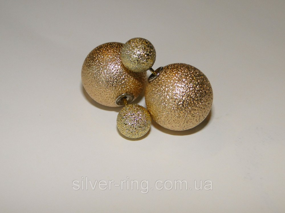 Купить Сережки двойные шарики Dior 0108С
