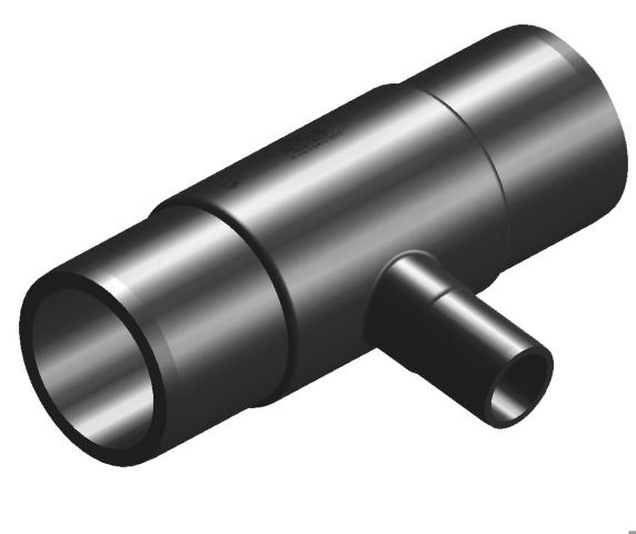Тройник редукционный SDR 17 d 200-160