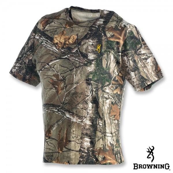 Футболка для охоты и рыбалки с коротким рукавом Browning Wasatch T-Shirt - Realtree Xtra