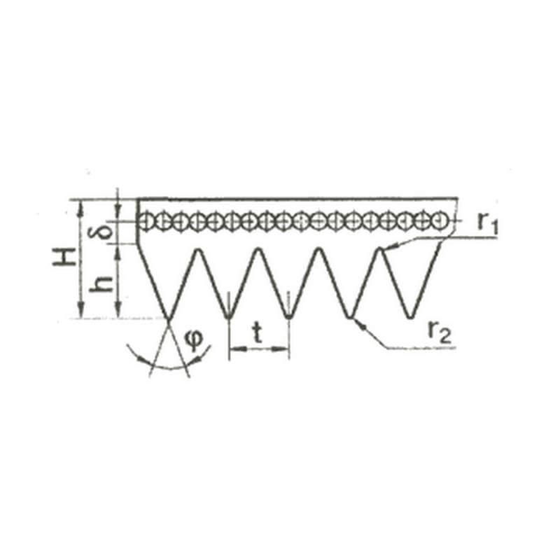 Ремень поликлиновый приводный сечением К, Л, М ТУ38 015 763-89