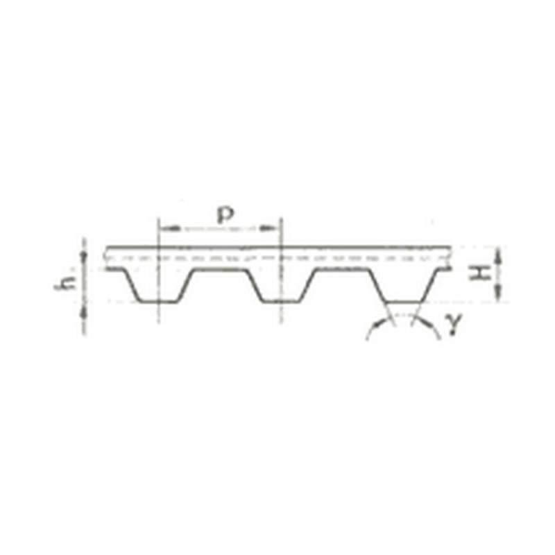 Ремень приводный зубчатый сборочный СБ с полукруглыми и трапециидальными зубьями ТУ 38.405.560-84