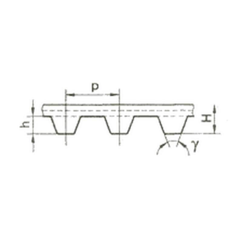 Ремень приводный зубчатый литьевой ЛР или ЛПУ и с зубьями трапециидального профиля ТУ РБ 001.494.38 073-95