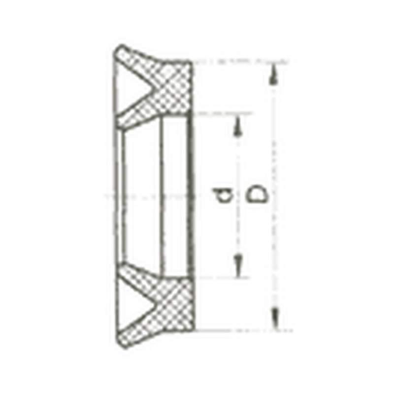 Манжета уплотнительная резиновая для гидравлических устройств ГОСТ 14896-84