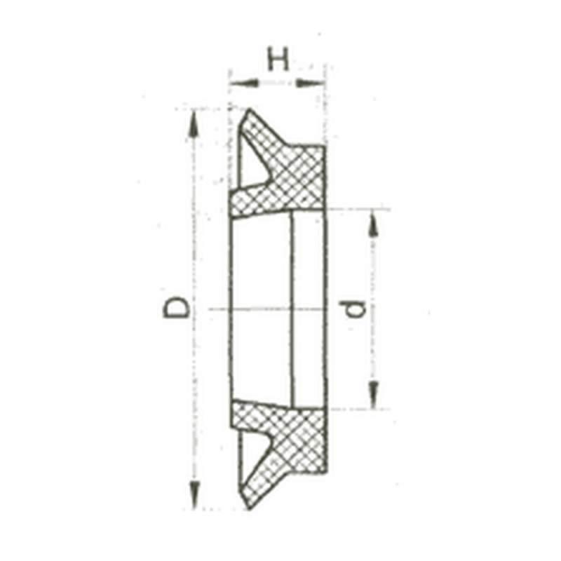 Манжета уплотнительная резиновая для пневматических устройств ГОСТ 6678-72