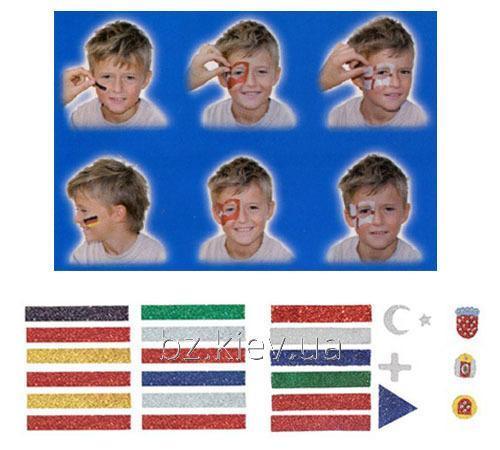 Наклейки на лицо Z-Design Avery с изображением флагов ведущих стран мира