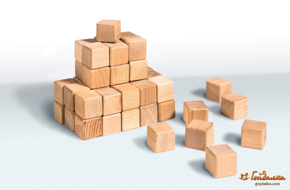 Купить Кубики деревянные 4×4, 20 шт, артикул 11C210-1