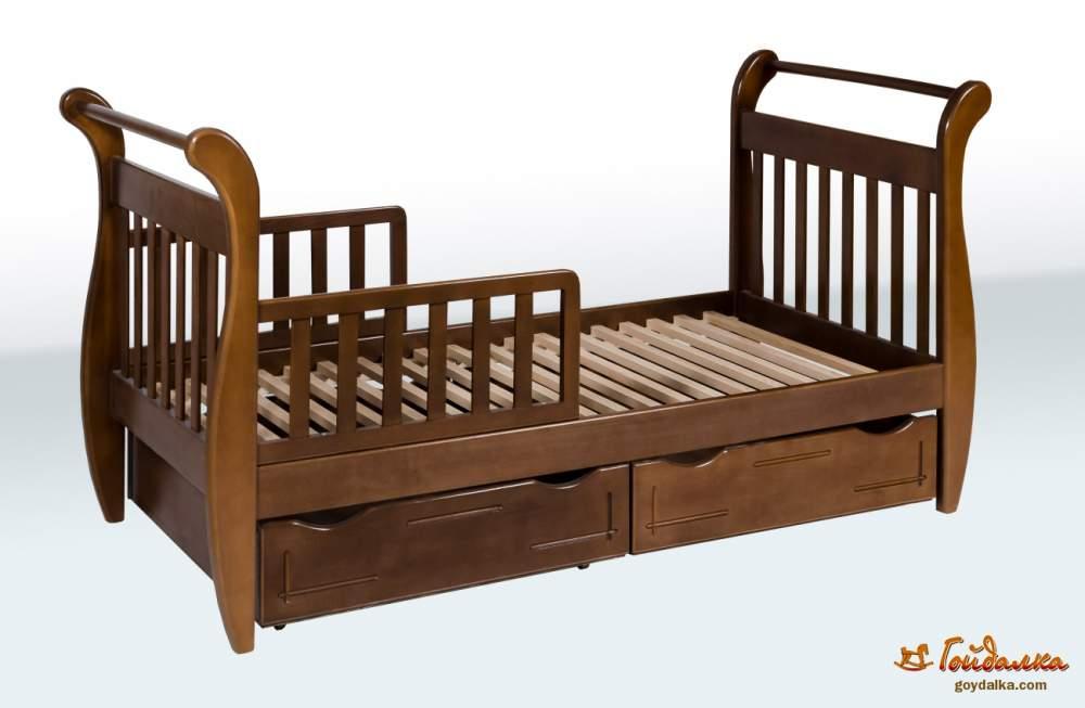 Купить Кровать подростковая с ящиками и боковинам, артикул 1A34-7-3