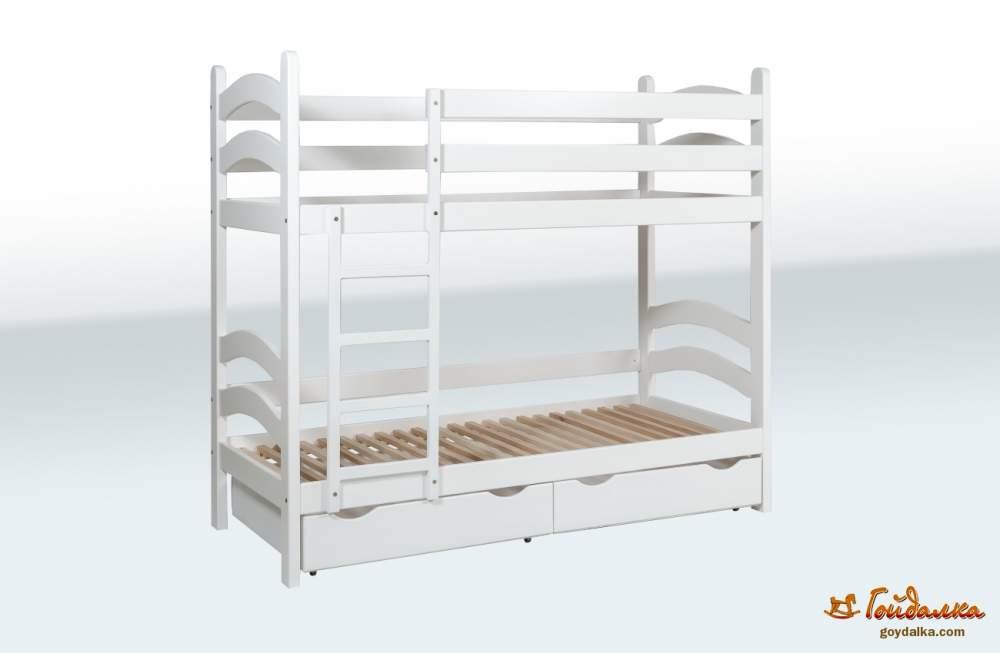 Купить Кровать двухъярусная Модерн с ящиками, артикул 1A46-7-1