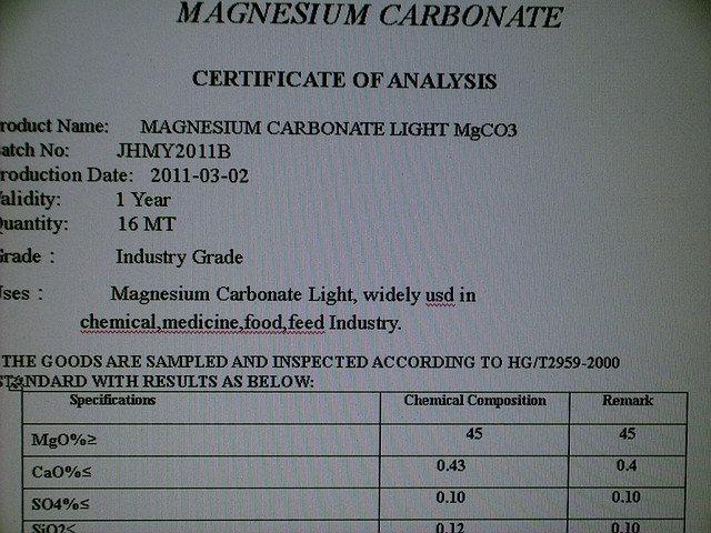 Buy MgCO3 magnesium carbonate