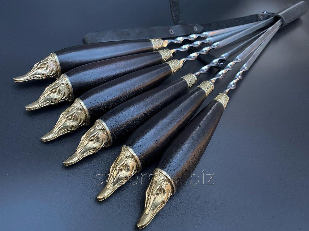 Buy Skewers the Wild boar In the Quiver From Genuine Leather, 6 pieces