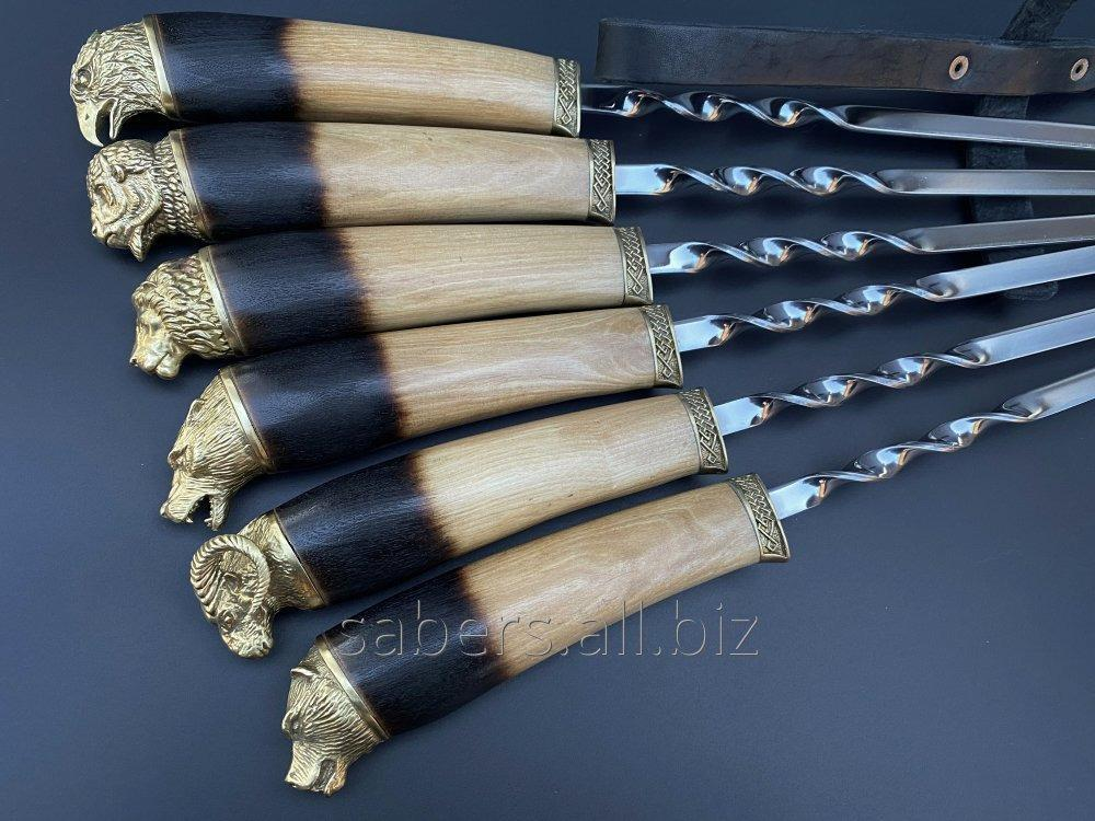 Buy A set of Skewers the Bear In the Black Leather Quiver, 6 pieces