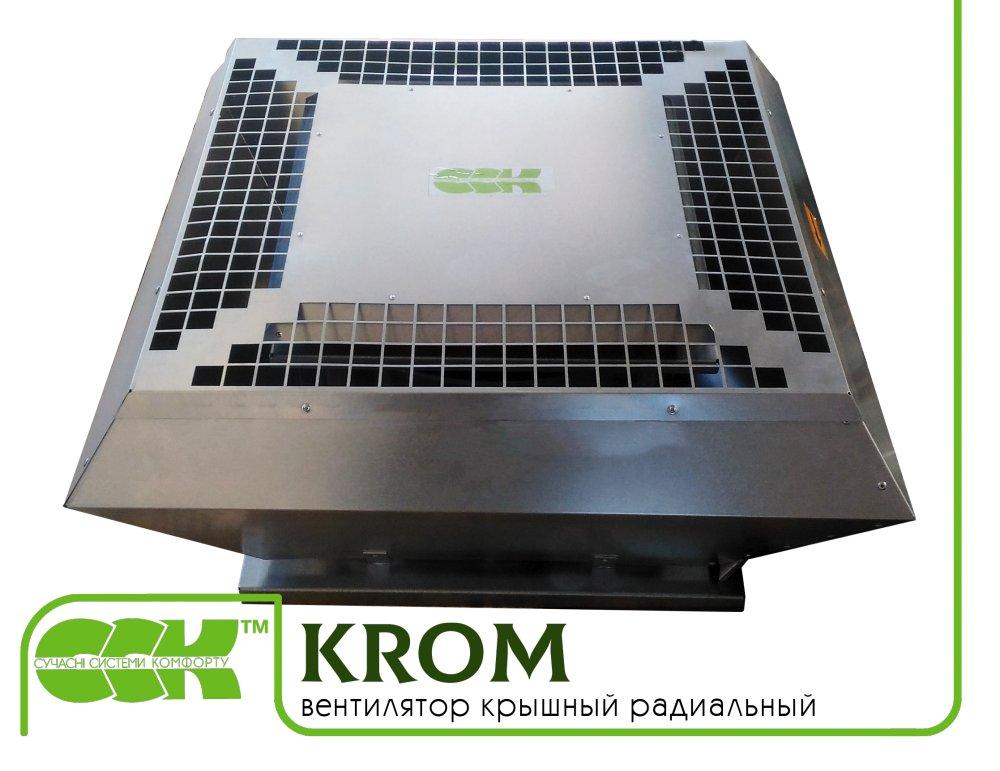 Крышный вентилятор радиальный малой высоты KROM-3,55