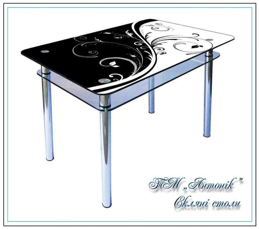 Купить Кухонный стол Кс-1 №42 с фотопечатью на металлических опорах