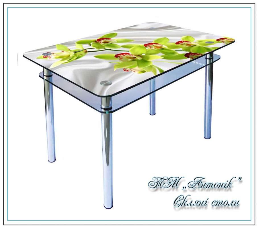 Купить Кухонный стол Кс-1 №57 с фотопечатью на металлических опорах