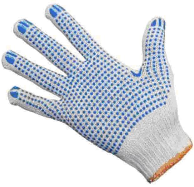 Перчатки рабочие хлопковые с точкой