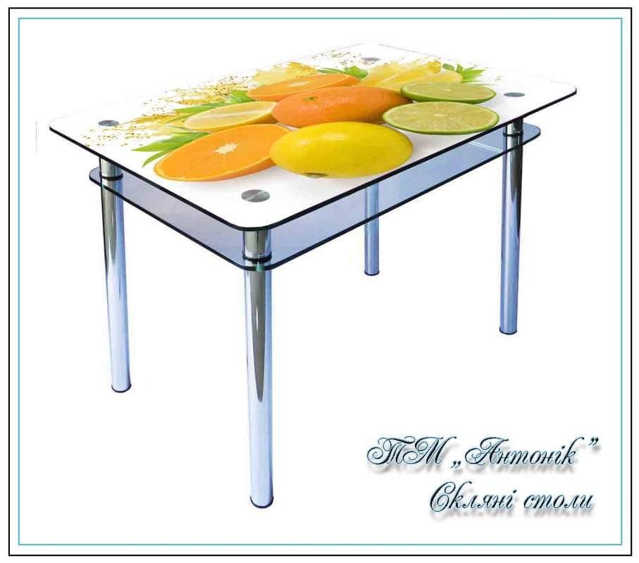 Купить Кухонный стол Кс-1 № 66 с фотопечатью на металлических опорах