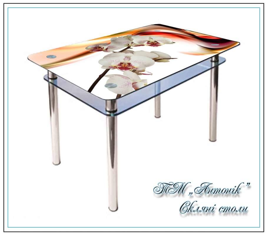 Купить Кухонный стол Кс-1 № 142 с фотопечатью на металлических опорах