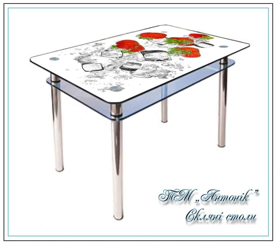Купить Кухонный стол Кс-1 №163 с фотопечатью на металлических опорах